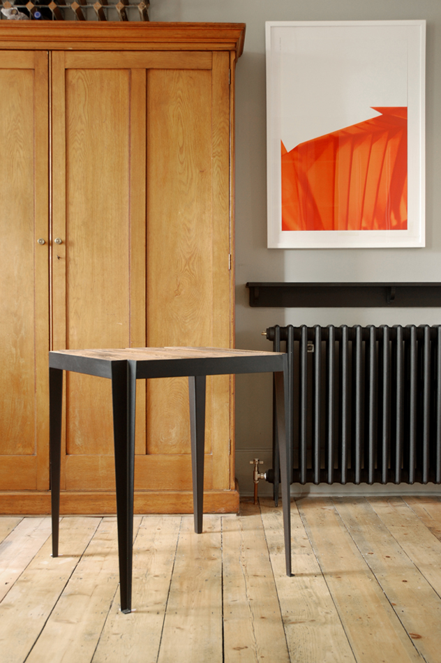 Hannah Stanton, Brazil Table Collection, Brass, Powder Coated Furniture, Reclaimed wood, Furniture, Leyton Bus Garage