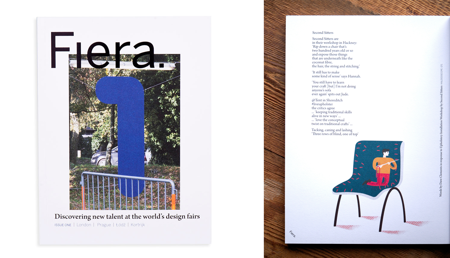Hannah Stanton, Fiera Magazine, Second Sitters, Upholstery, Confessions of a Design Geek, Katie Treggiden, London