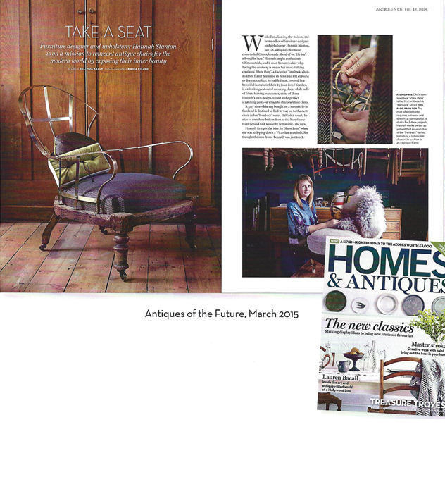 Hannah Stanton, Homes and Antiques, Antiques of the Future, upholstery, Furniture, design, London