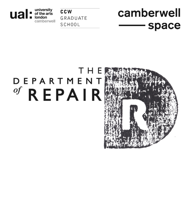 Department of Repair, Hannah Stanton, Camberwell Art College, Bridget Harvey, Upholstery,